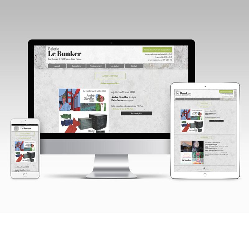 Site web - Galerie Le Bunker