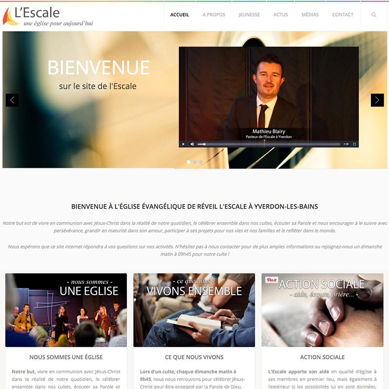 Site web pour une église active